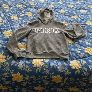 VICTORIA'S SECRET PINK PULLOVER LOUNGE HOODY SMALL